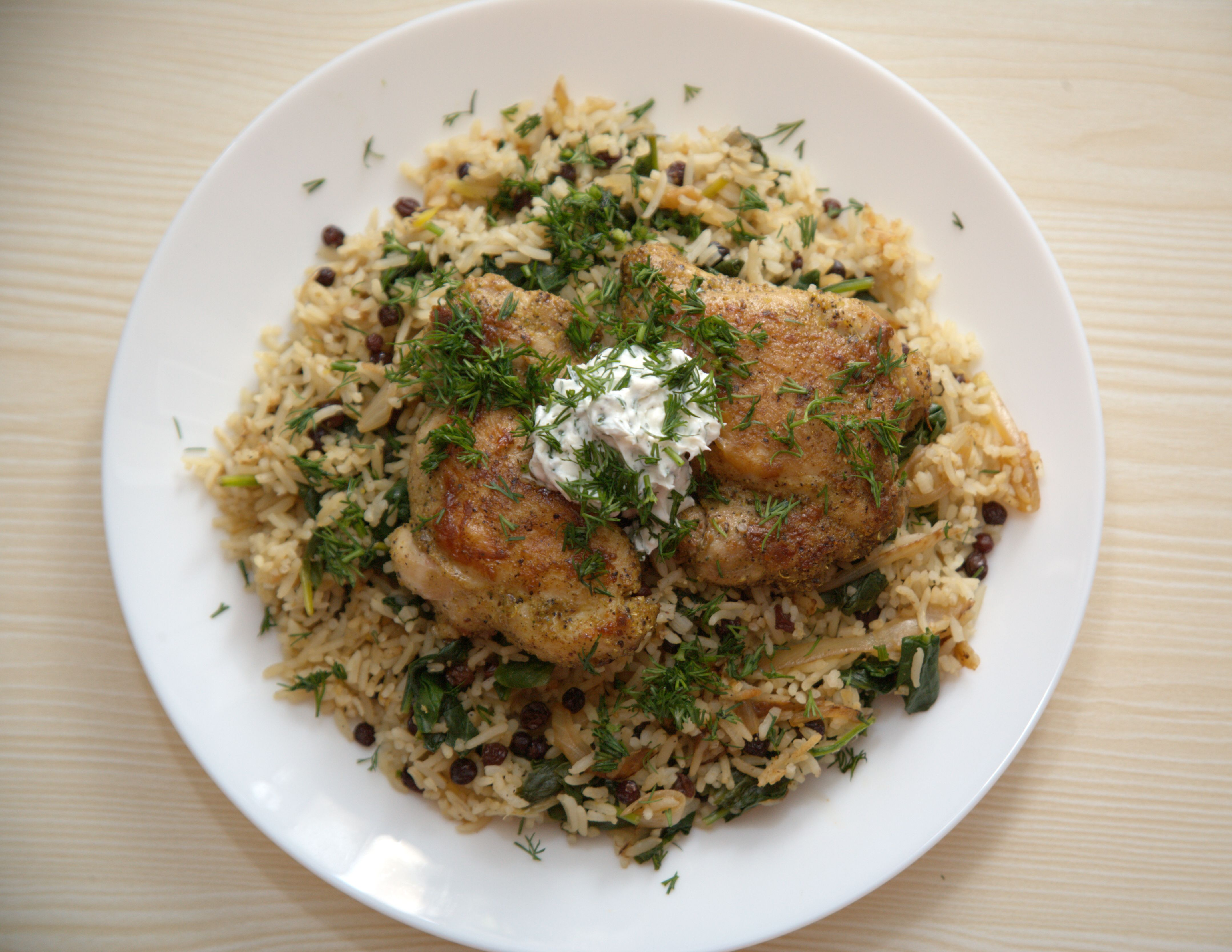 Curry Chicken Thighs and Basmati Rice